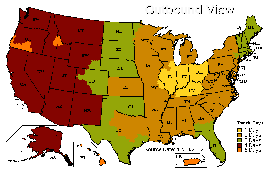 UPS Delivery Zones